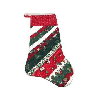 Other - Vtg Christmas Diagonal Quilt Stocking